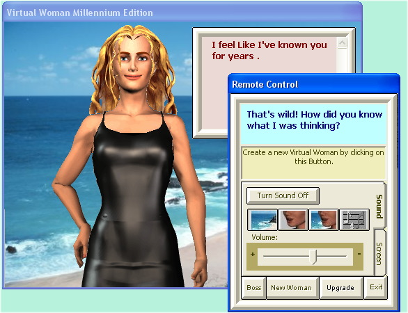 Screenshot of Virtual Woman Millennium Beta Test